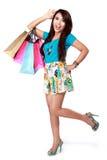 girl happy shopping very Στοκ Φωτογραφίες