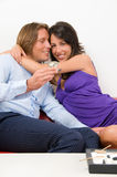 Girl Happy With Engagement Ring Stock Images