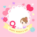 Girl with happy womens day Royalty Free Stock Photos