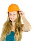 Girl in hard hat Stock Photos