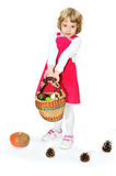 Girl with harvest Stock Photos