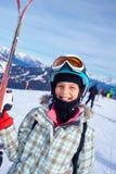 Girl has a fun on ski Stock Photography
