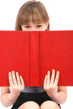 Girl has hidden for the open book Royalty Free Stock Photo