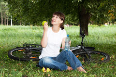 Girl has a rest Royalty Free Stock Image