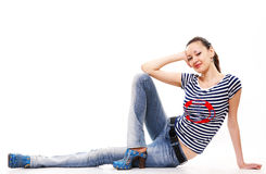 The girl has a rest Stock Image