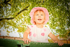 The girl in a hat Royalty Free Stock Photo
