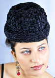 Girl with hat Stock Images