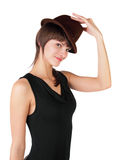 The girl in a hat Stock Photos