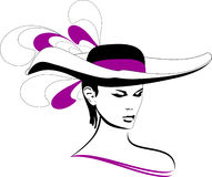 The girl in a hat. Style fashion female hat  illustration Stock Images