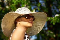 Girl in hat Royalty Free Stock Image