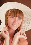 Girl in a hat Royalty Free Stock Photos