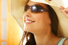 Girl in hat Royalty Free Stock Images