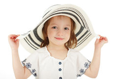 Girl on hat Stock Photo