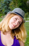girl in hat Stock Photos