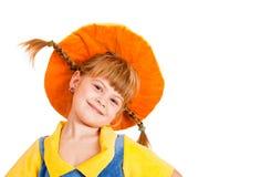 Girl in hat Stock Photos