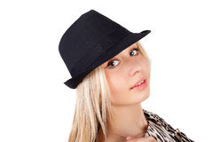 Girl in hat Stock Image