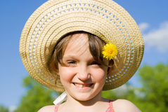 The girl in the hat Royalty Free Stock Image