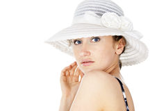 Girl in the hat Royalty Free Stock Image