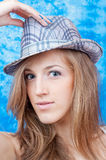 Girl with hat Stock Photography