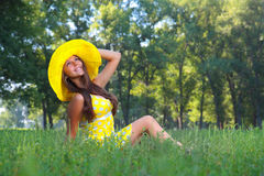 The girl in a hat Royalty Free Stock Images