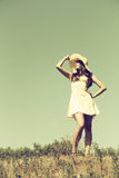 The girl in a hat. Royalty Free Stock Photography