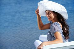 Girl in hat Royalty Free Stock Photo