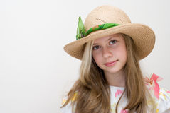 The girl in a hat Stock Image