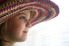 Girl in Hat Stock Photo