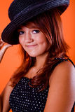 Girl with a hat Stock Image