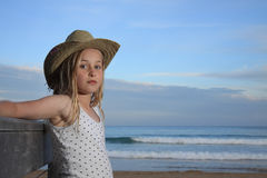 Girl in a hat. Royalty Free Stock Images
