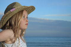 Girl in a hat. Royalty Free Stock Photography