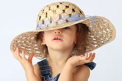 A girl is in a hat. Stock Photo