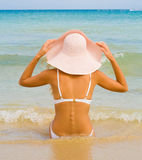Girl in a hat Royalty Free Stock Photo