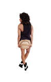 Girl with hat from back. Royalty Free Stock Image