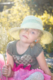 Girl with hat Stock Photos