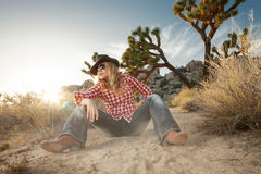 Girl in hat Royalty Free Stock Photos