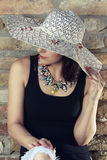 Girl with hat Royalty Free Stock Image