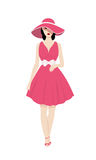 Girl in a hat. stock illustration