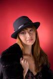 girl hat romantic stylish Στοκ φωτογραφία με δικαίωμα ελεύθερης χρήσης