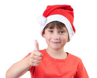 Girl in the hat of Santa Claus Royalty Free Stock Photography