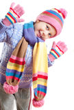 The girl in the hat scarf Royalty Free Stock Image
