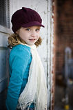 Girl with hat and scarf Stock Photography