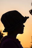 Girl Hat Silhouette Stock Photos