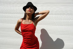 The girl  from Havana. The girl in the red cloth Stock Images