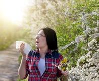 Girl having allergy Royalty Free Stock Image