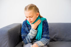 Girl having cold stock images