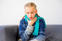 Girl having cold royalty free stock images