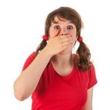 Girl is having fear stock photos