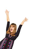 Girl having fun Stock Photos