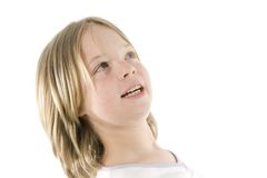 Girl having fun. A girl having fun in front of the camera Royalty Free Stock Photography